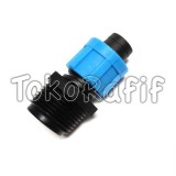Connector Male 3/4x16 Driptape