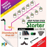 Paket Drip Putar Stick 16mm -10pot