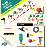 Paket Irigasi 7mm Drip Putar -10pot