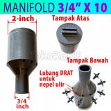 Manifold Irigasi 3/4-inch x 10-titik (Termasuk Nepel Ulir)